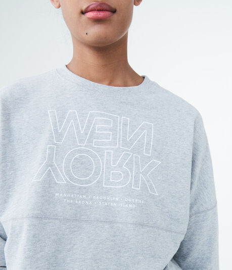 Oversized New York Crew Graphic Tee