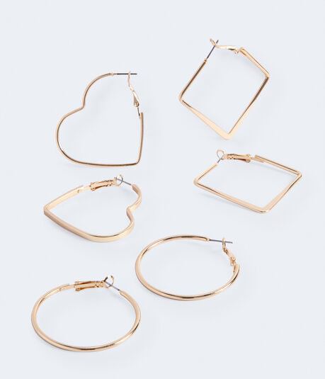 Shapes Hoop Earring 3-Pack