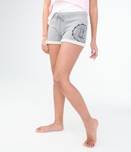 Faux Pearl Logo Fleece Shorts