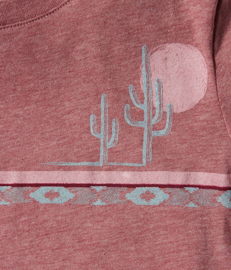 Free State Cactus Stripe Graphic Tee