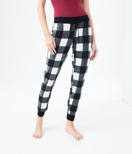 LLD Plaid Polyfleece Sleep Joggers