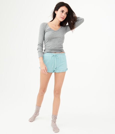 LLD Seriously Soft Ruffle Sleep Shorts