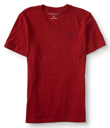 A87 Solid V-Neck Tee