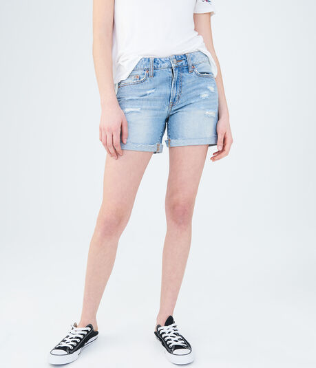 Light Wash Tomboy Denim Shorts