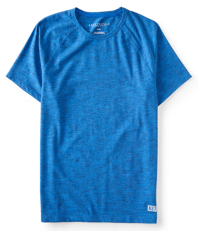 Heathered Raglan Active Stretch Tee