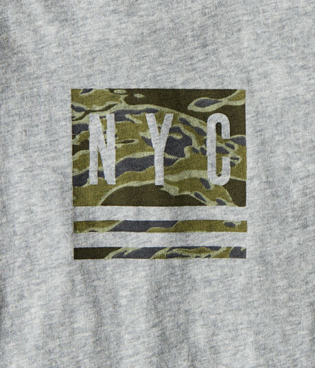 Long Sleeve Camo NYC Graphic Tee
