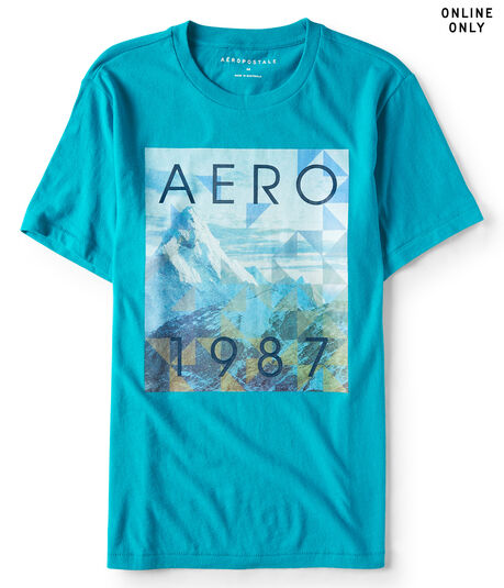 Aero 1987 Mountains Graphic Tee***
