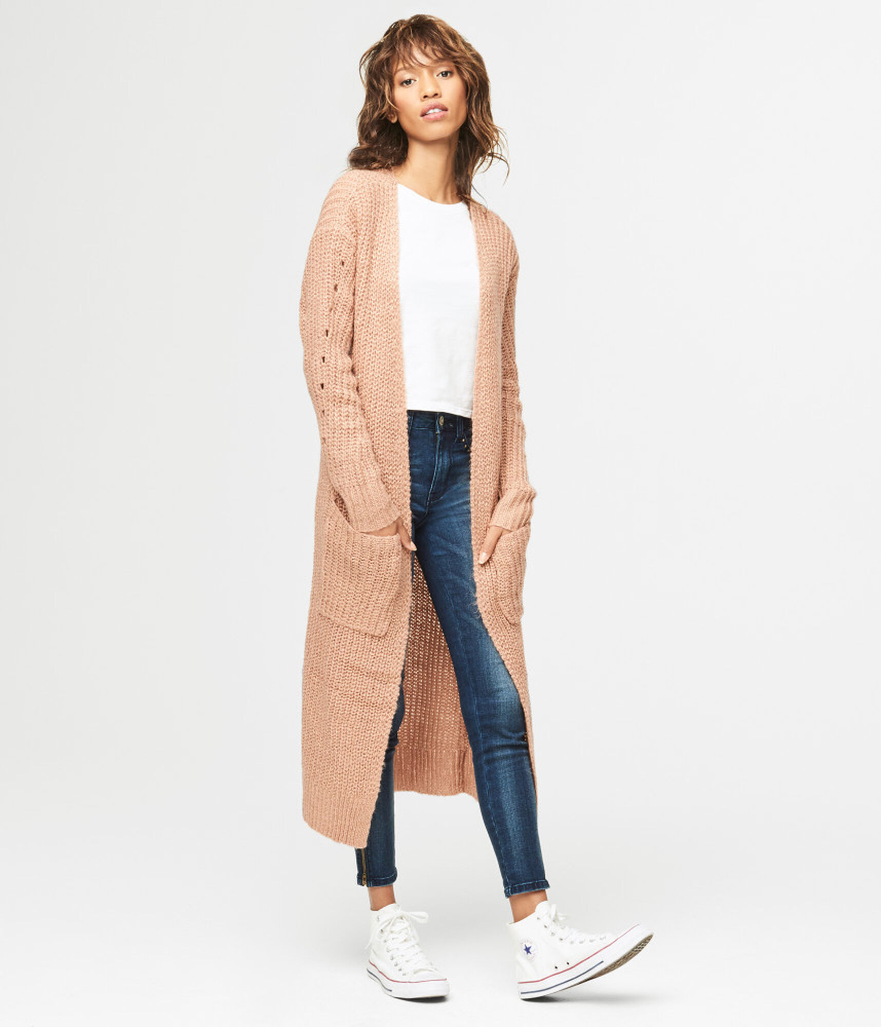 Cable Duster Cardigan