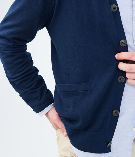 Solid Knit Uniform Cardigan***