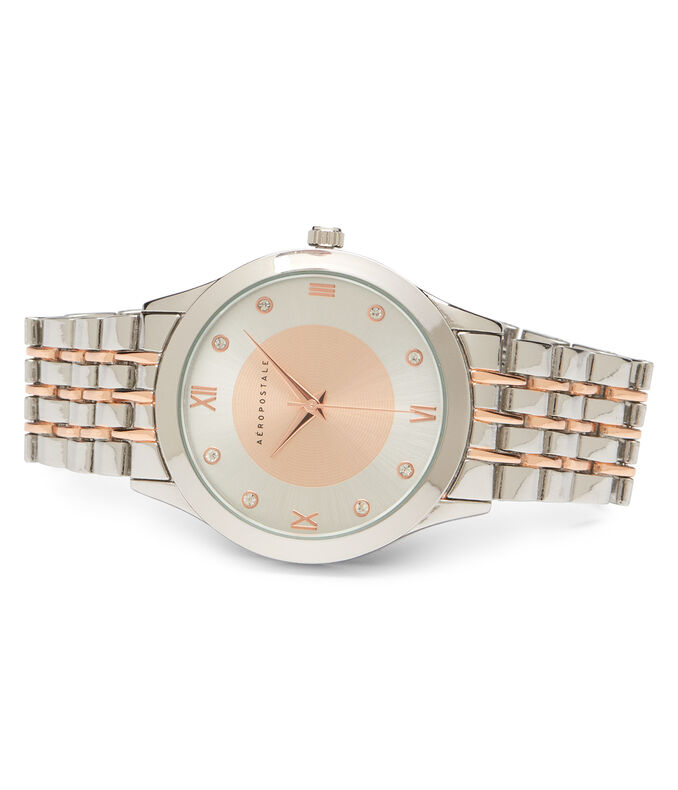 Metal Two-Tone Analog Watch