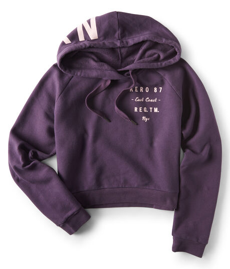 Aero 87 Stacked Text Pullover Hoodie