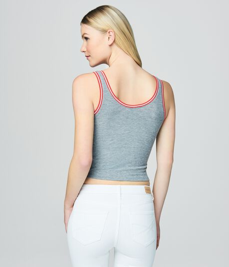 Prince & Fox Ribbed Scoop Cropped Tank