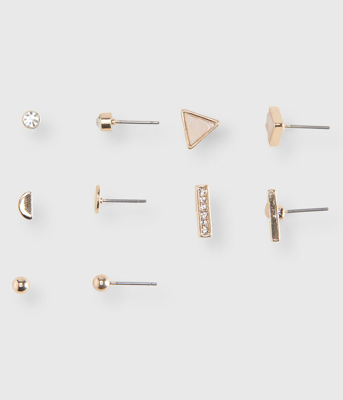 Geometric Stud Earring 5-Pack