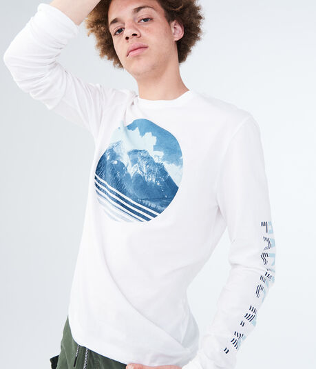 Long Sleeve Aero Mountain Graphic Tee