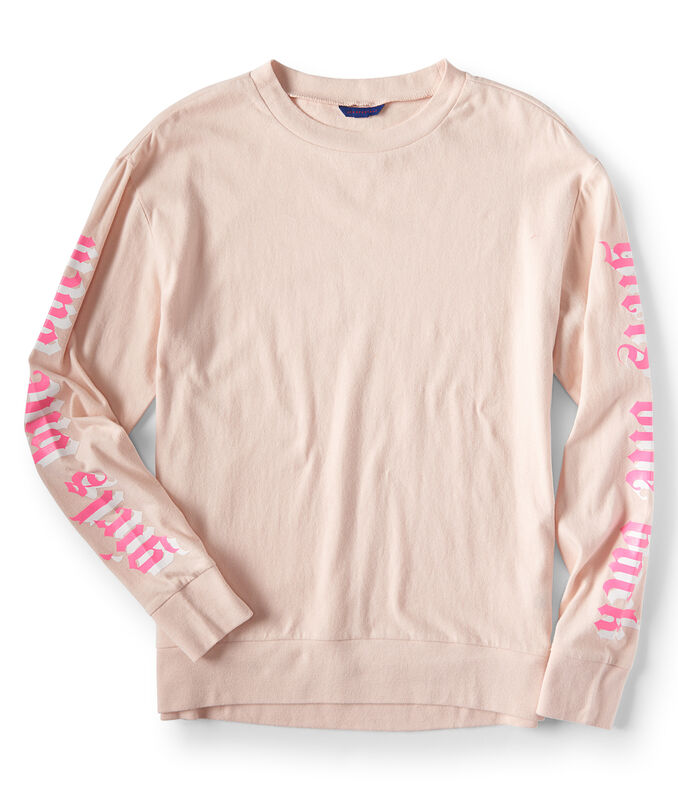 Long Sleeve Girls Bite Back Graphic Tee