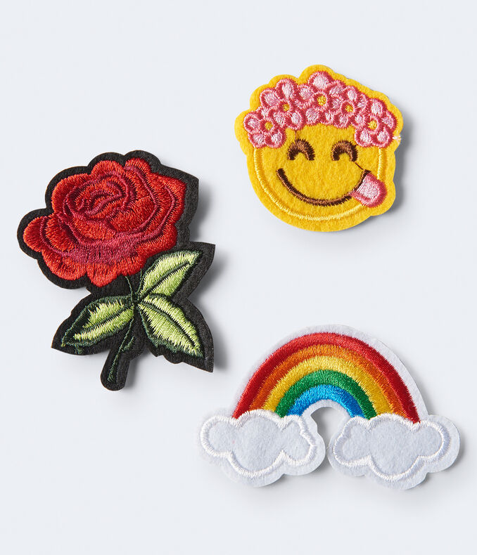RAINBOW ROSE PATCHES