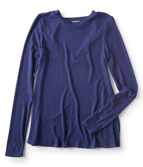 Final Sale -Long Sleeve Seriously Soft Ribbed V-Back Tee