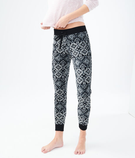 LLD Tile Print Fleece Joggers
