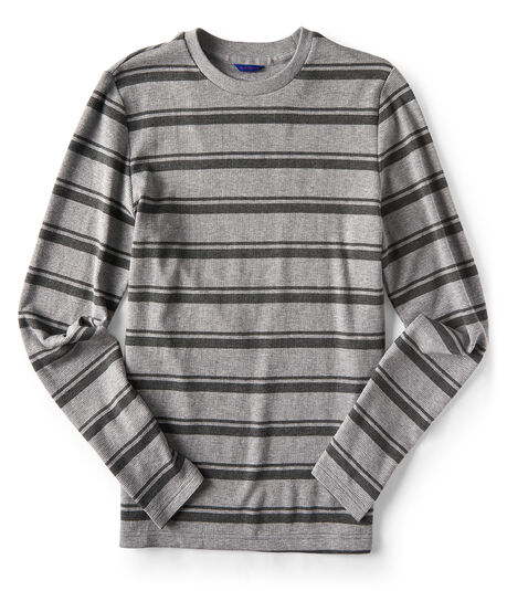 Long Sleeve Varsity Stripe Thermal Tee