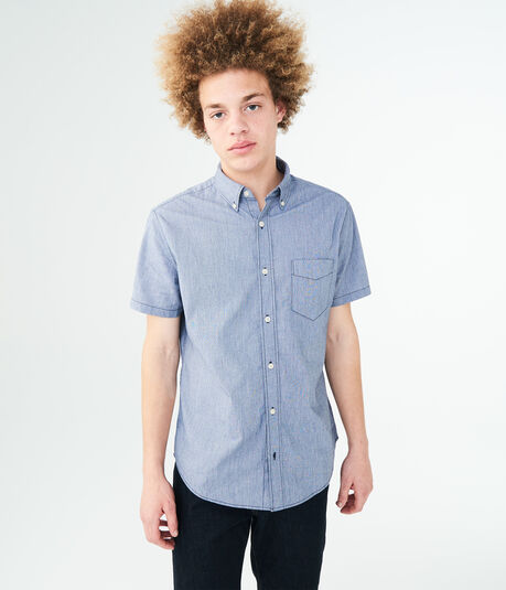 Solid Stretch Woven Shirt