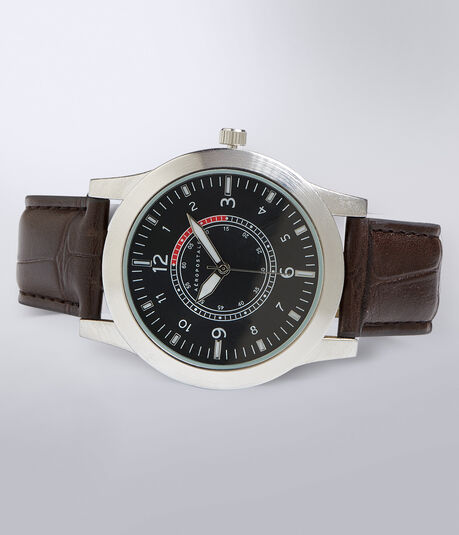 Faux Croc Analog Watch