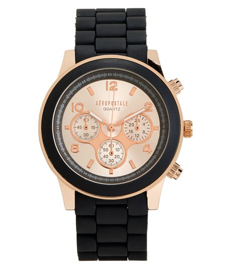 Black Rose Metallic Watch