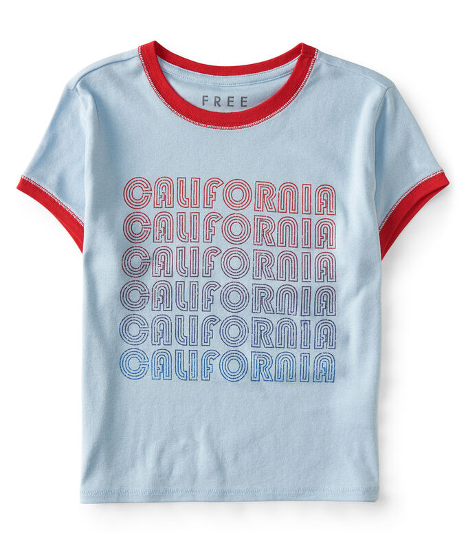 Free State California Cropped Ringer Tee