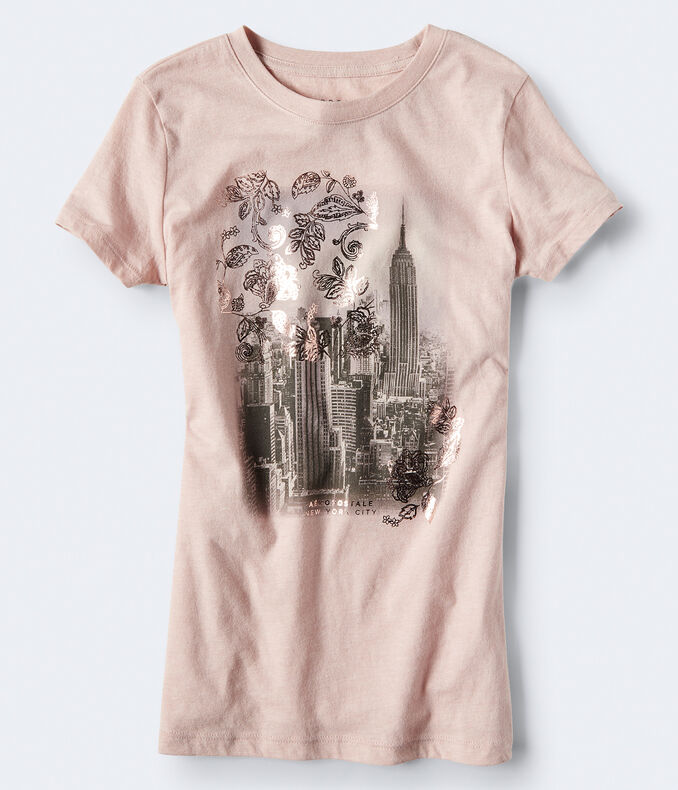 Floral Cityscape Graphic Tee***