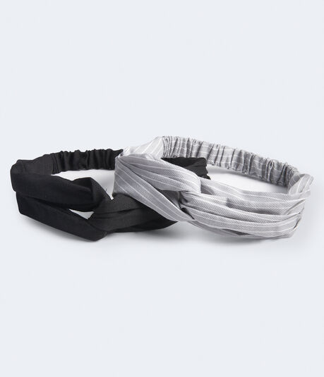 Striped & Solid Twist Headband 2-Pack