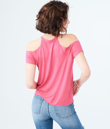 Sunglasses Cold-Shoulder Tee