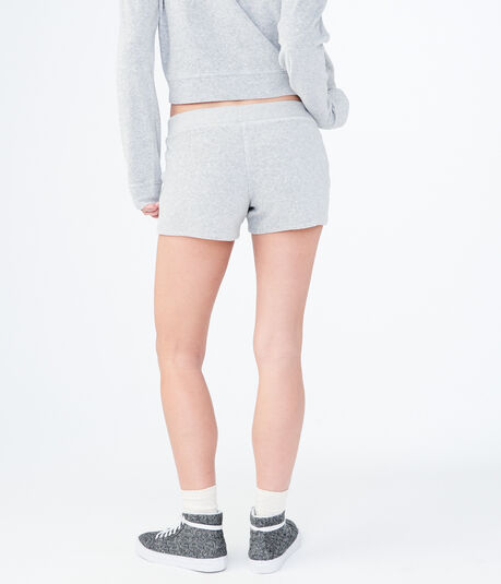 Heathered Velour Shorts