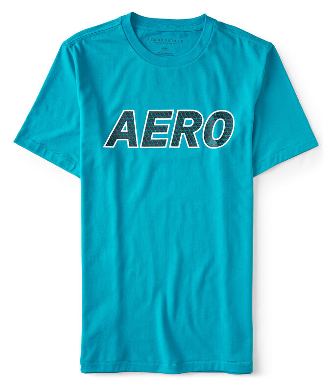 Textured Aero Stretch Graphic Tee
