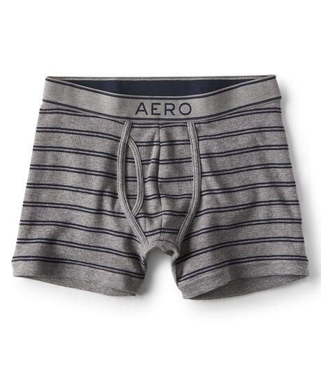 Striped Thermal Knit Boxer Briefs