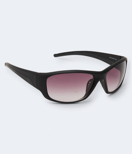 Matte Sports Wrap Sunglasses