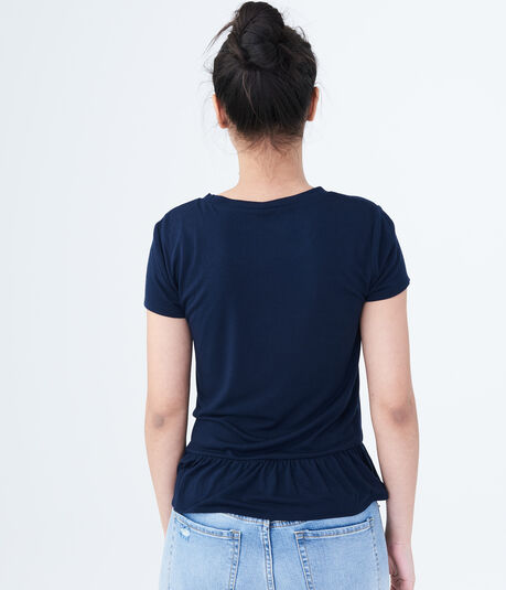 Seriously Soft Solid Ruffle Tee