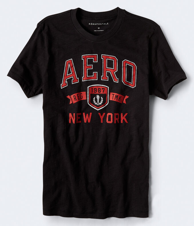 Aero New York Trademark Logo Graphic Tee