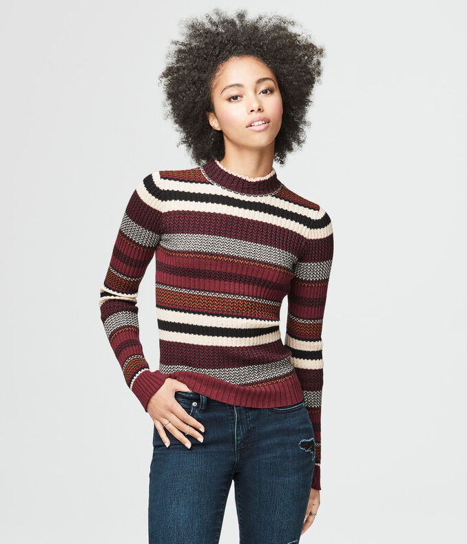 Ribbed Stripe Sweater