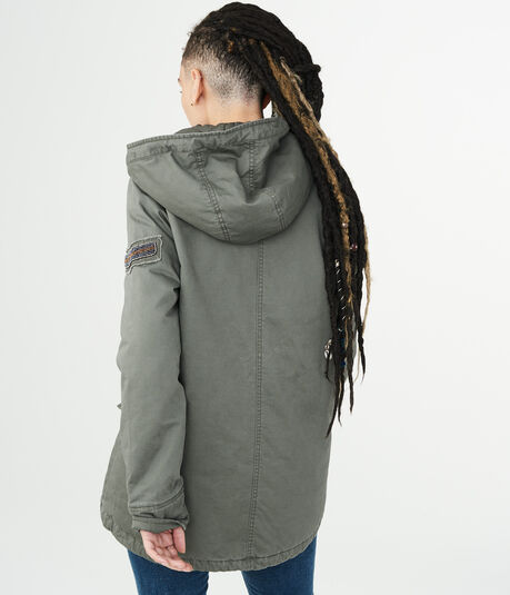 Solid Swing Parka