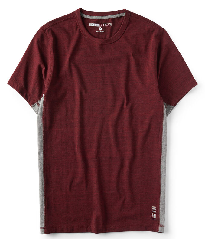 Colorblocked Heather Stretch Tee