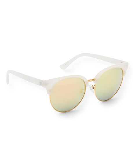 Plastic Mirrored Cateye Sunglasses