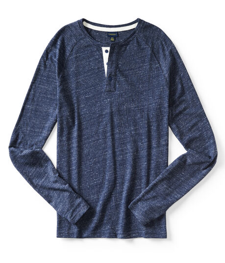 Long Sleeve Textured Henley