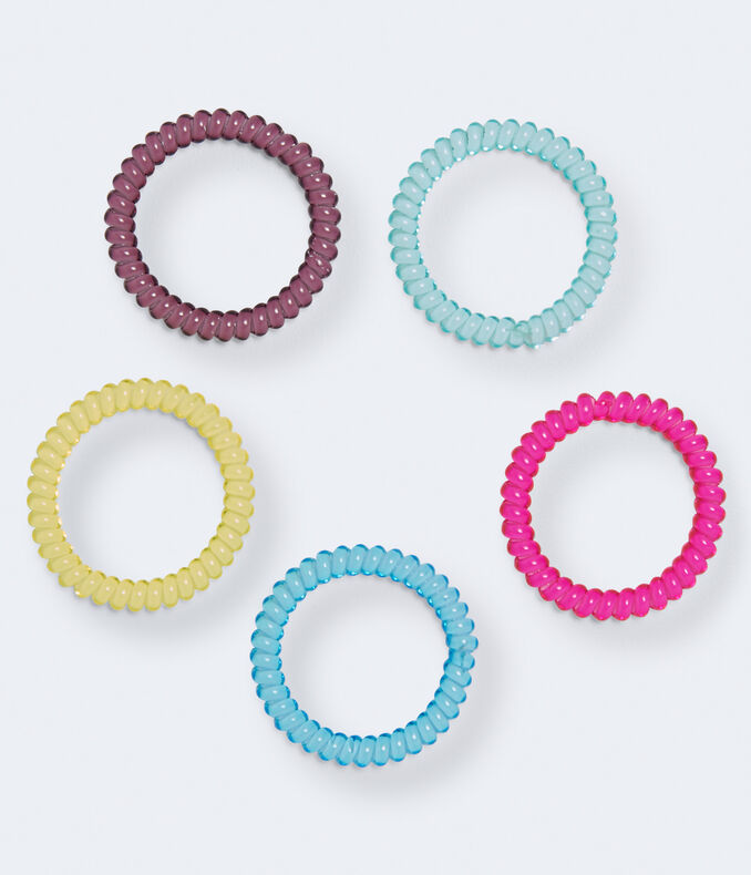 Mini Coil Hair Tie 5-Pack