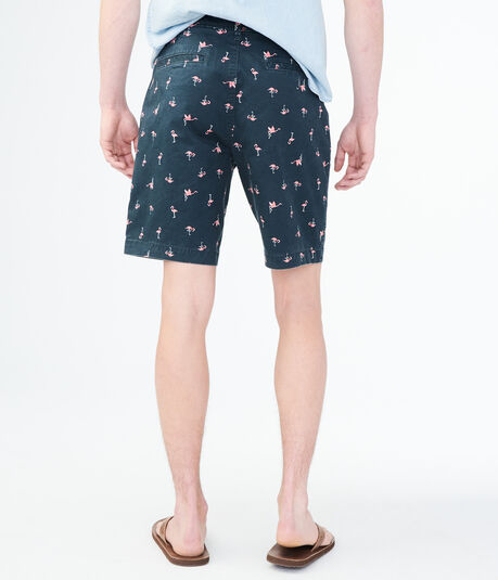 Flamingo Stretch Flat-Front Chino Shorts
