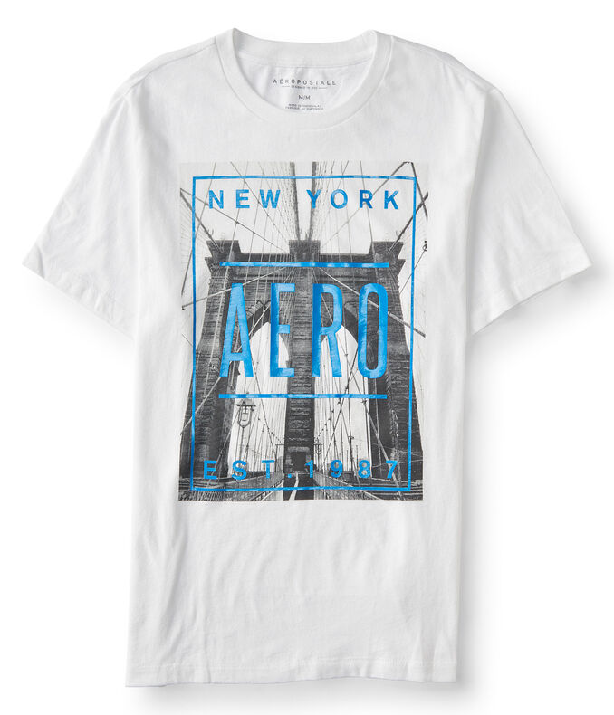 New York Aero Bridge Graphic Tee