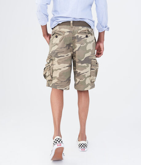 Camo Belted Cargo Shorts
