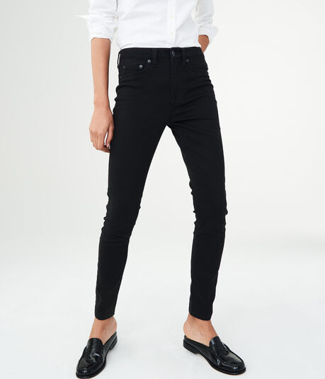 High-Waisted Solid Uniform Jegging***