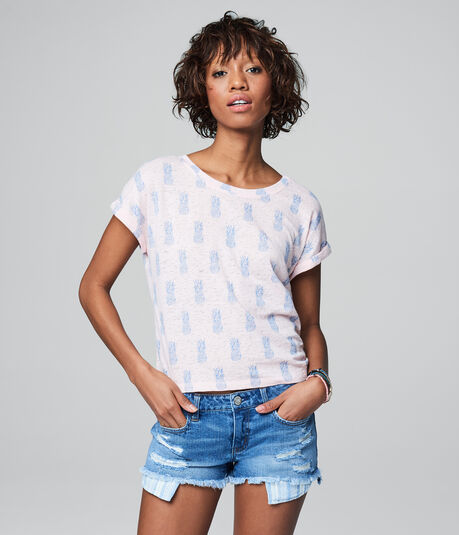 Cape Juby Pineapple Burnout Tee