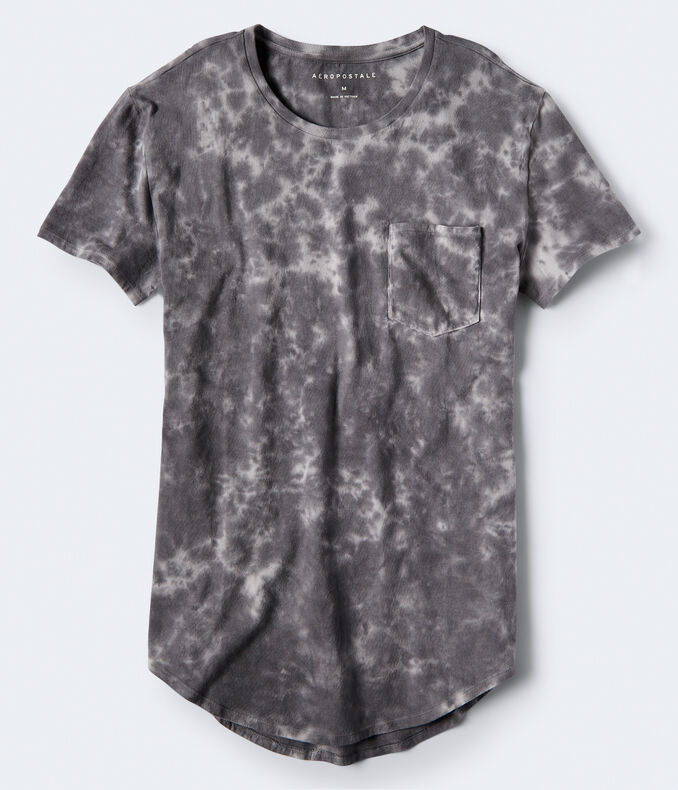 Tie-Dye Long Line Pocket Tee