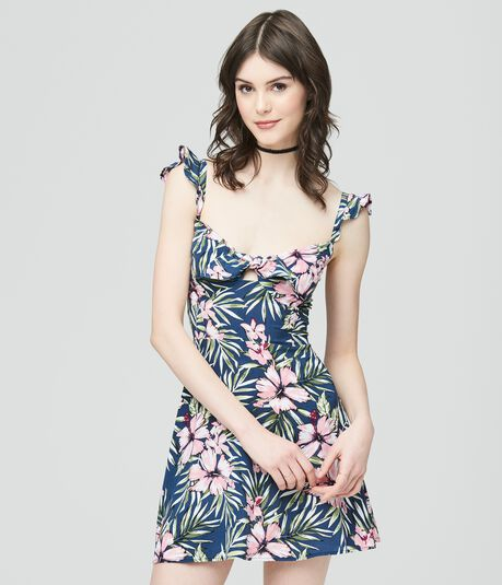 Prince & Fox Tropical Ruffle Dress