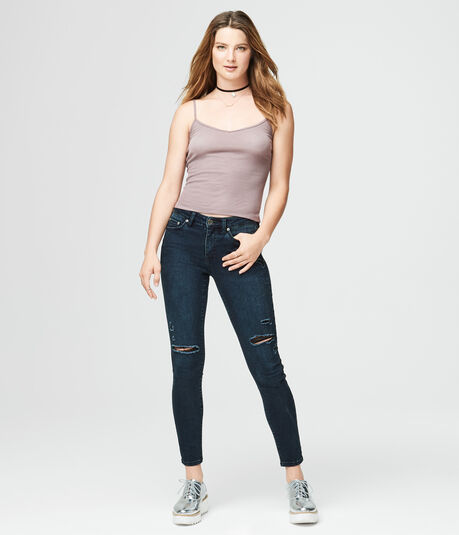 Final Sale -Solid Ribbed V-Neck Cami